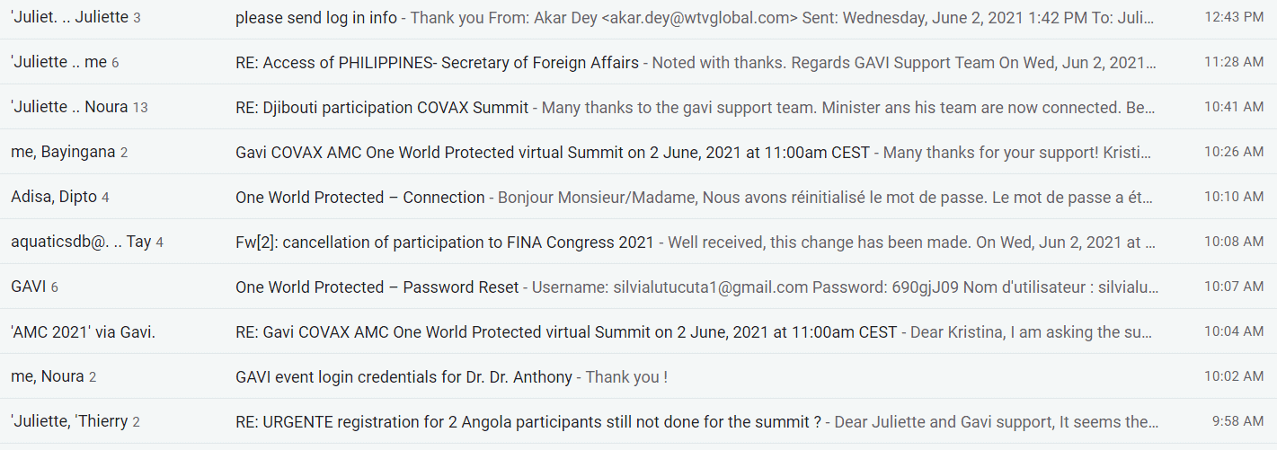 Gavi email support