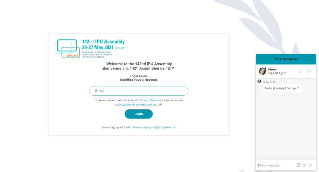 IPU chat widget