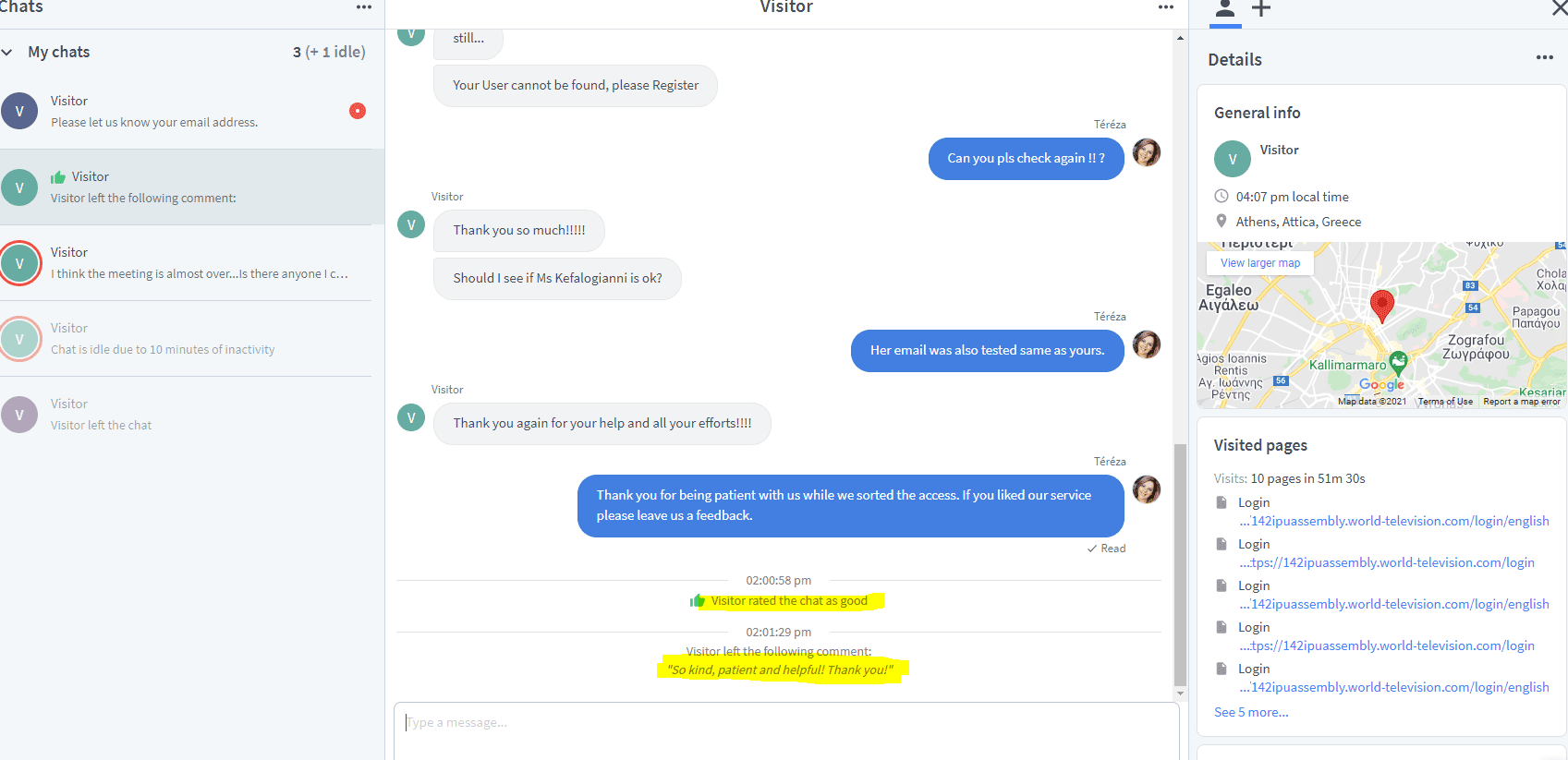 Nobotchat support satisfaction
